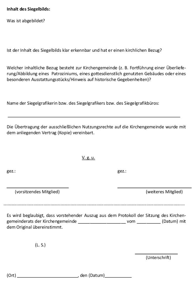 1129 501 Siegelverwaltungsvorschrift Siegelvwv Kirchenrecht